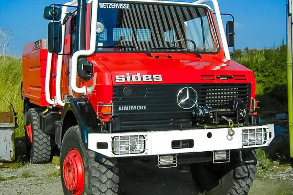 treuil motorisé sur un camion de pompier